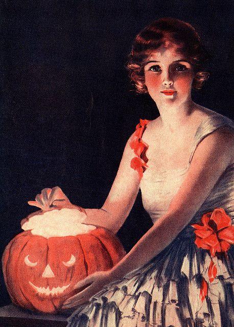 Girl With Jack O' Lantern