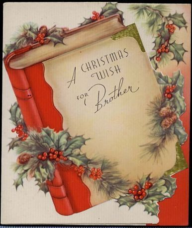 vintage Brother Christmas Greeting Card