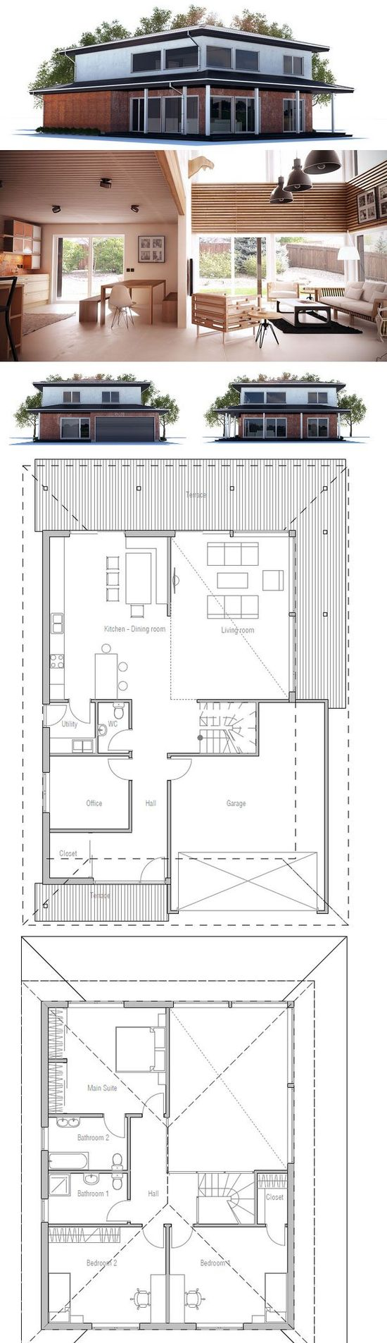 Modern Home Design, Floor plan from ConceptHome.com