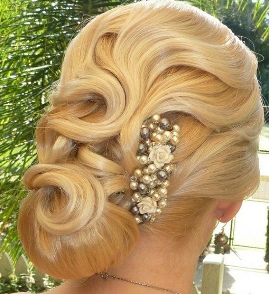 www.weddbook.com everything about wedding ? Bridal Updo Hairstyle #weddbook #wedding #hairstyle #bride