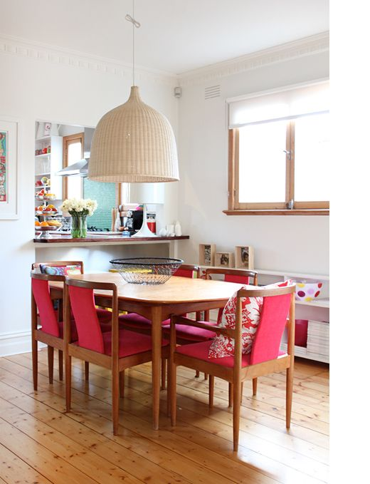 A colourful, happy dining room (from Jane Hall's home; aka Salvation Jane)