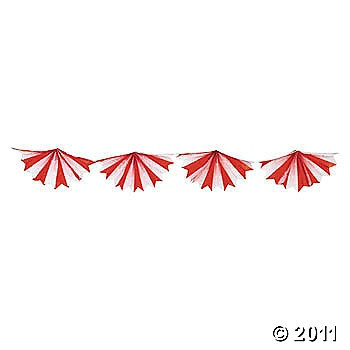 tissue bunting for carnival or circus party