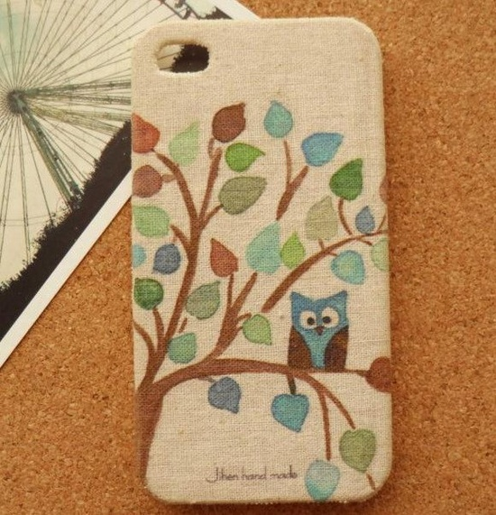 iphone 5 case, iphone 4 case, iphone 4s case, cute owl style fabric knitted iphone case covers. $17.99, via Etsy.