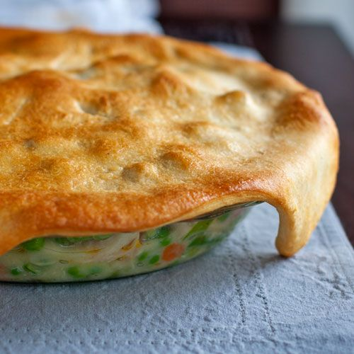 Garlic Chicken and Veggie Pot Pie