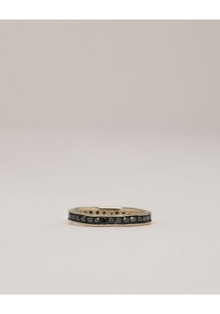 Black diamond eternity ring.