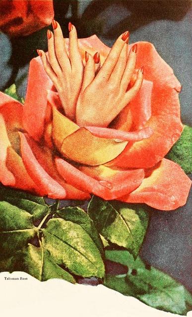 From a Dura-Gloss nail polish ad, 1945. #vintage #1940s #beauty #nails