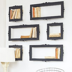 Picture frame book shelves!!