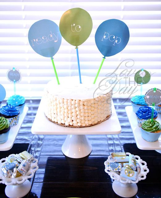 """Love this """"ready to pop"""" theme for a baby shower."""