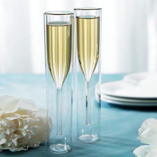 2-Pc. Modern Art Champagne Glass