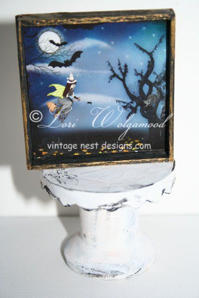 Halloween Spooky Night Framed Print Miniature Doll House - Vintage Nest Designs, Creative Handmade and Hand Painted Designs