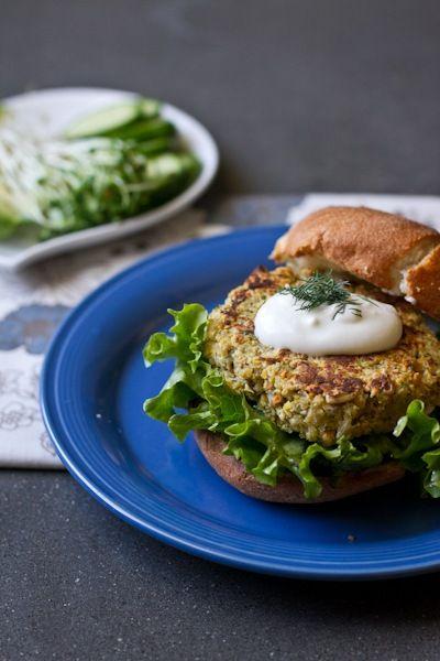 quinoa chickpea falafel burger