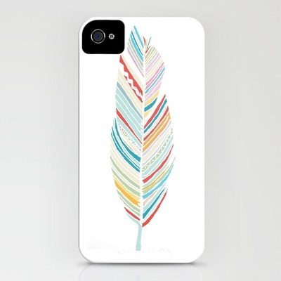 lone feather iphone case