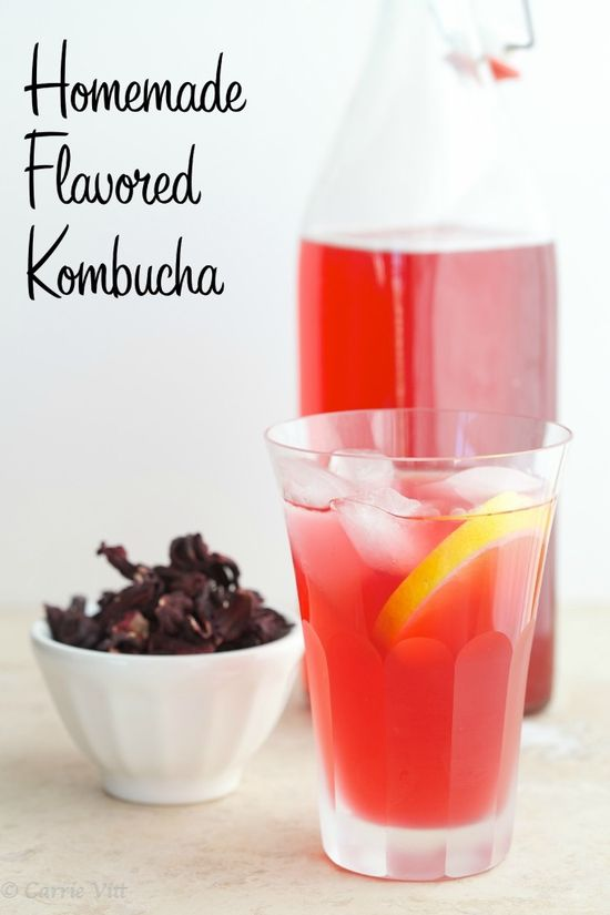 Homemade Flavored Kombucha via DeliciouslyOrgani...