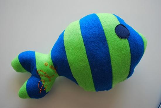 Mr. Fishy baby toy tutorial
