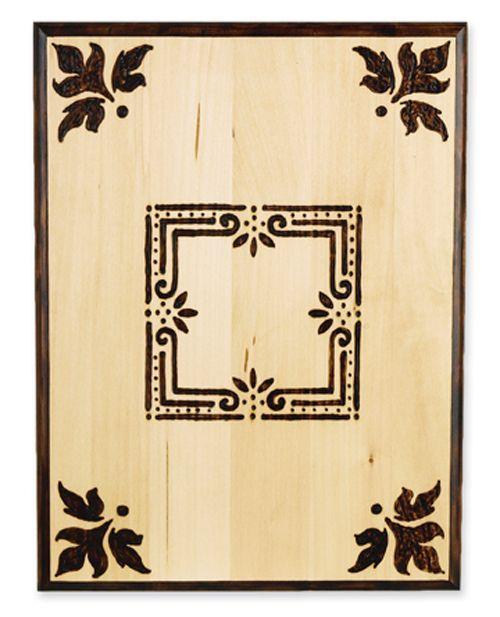 Wood Burned Plaque--box top idea?