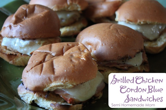 Semi Homemade Mom: Grilled Chicken Cordon Bleu Sandwiches
