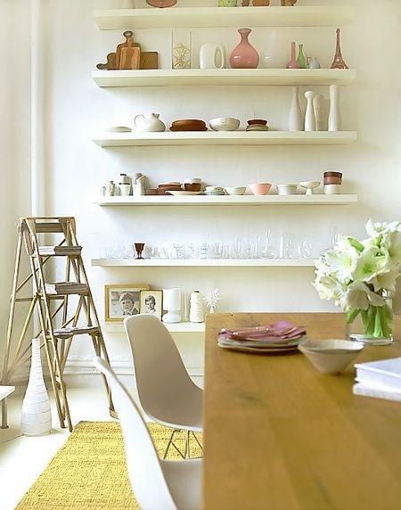 shelves -- along the north wall.