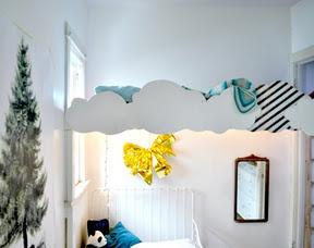 This bedroom is so cute.