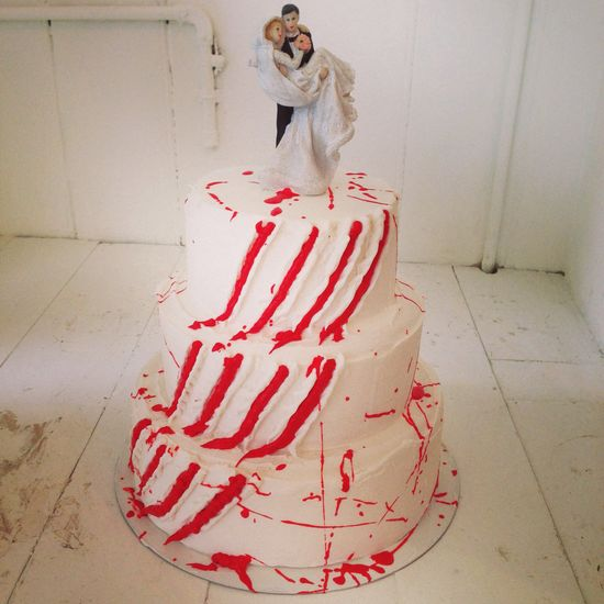 Slasher wedding cake