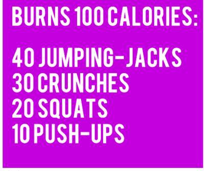 Burns 100 calories