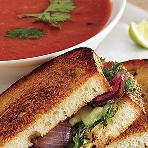 Poblano-Tomato Soup