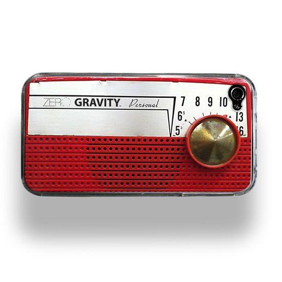 Vintage Radio Zero Gravity Apple iPhone 4 Custom Case