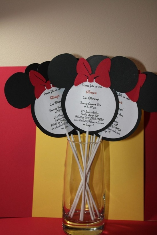 Minnie Mouse Party Invitations