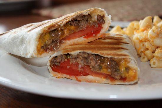 grilled cheeseburger wraps - they were pretty good - no big bun :)