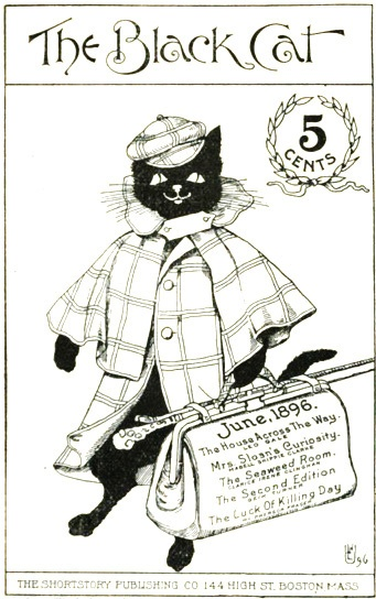 The adorable cover of the June 1896 cover of Black Cat magazine. #vintage #Victorian #cats #cute