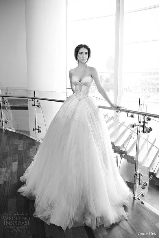 nurit hen 2013 strapless wedding dress