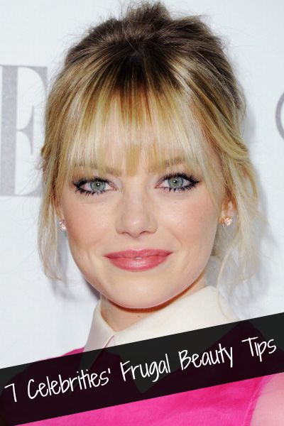 7 Celebrities' Frugal Beauty Tips