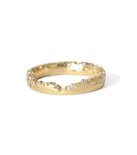 Catbird::Polly Wales::Constellation Ring, yellow gold