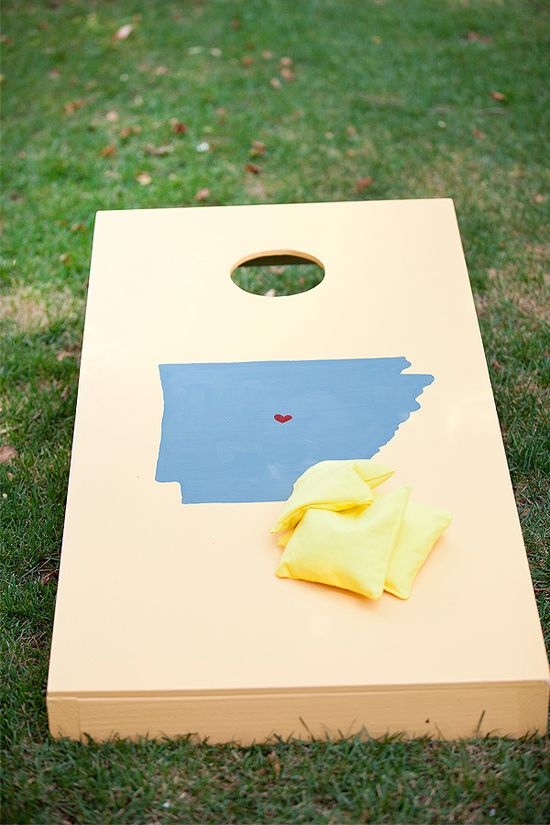awesome state cornhole boards! But with monogram?