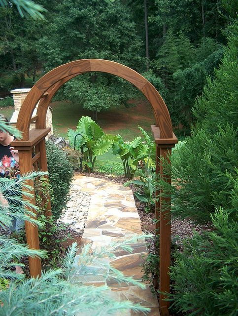 Garden Arch Stone Path #garden_arch #stone #path