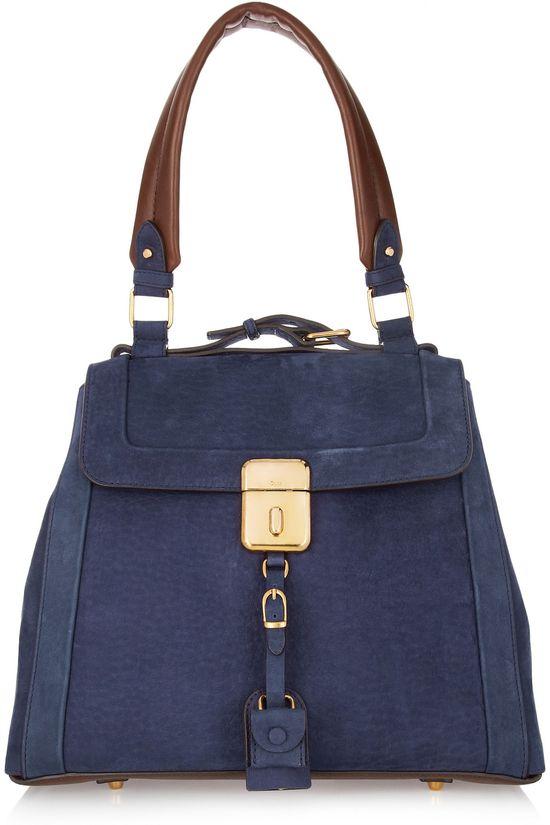 Chloe Brushed Leather Shoulder Bag #Handbag #Chloe