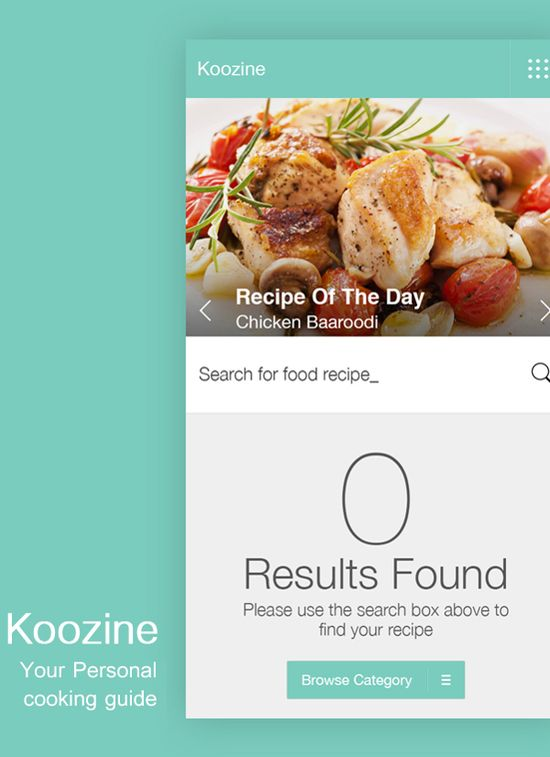 Koozine A Cooking Guide App by Chandan Mishra, via Behance