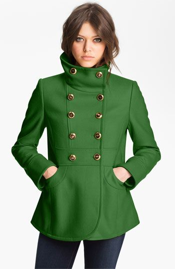 Peacoat Perfection - perfect mix of military style and color // Kenneth Cole NY #coloroftheyear