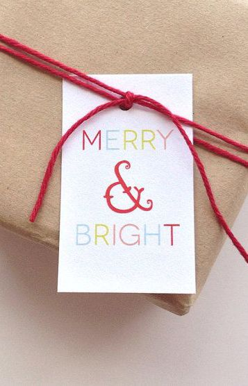 Holiday gift tags - Merry and Bright Gift tags - Christmas Tags - Holiday Gift tags