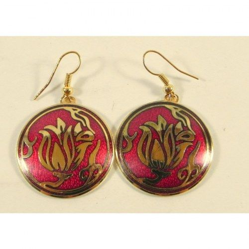 Handmade Earrings with Ethinic print