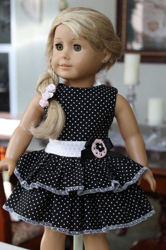 American Girl Sundress 18 inch doll dress Madame by LoveEllieBean, $20.00