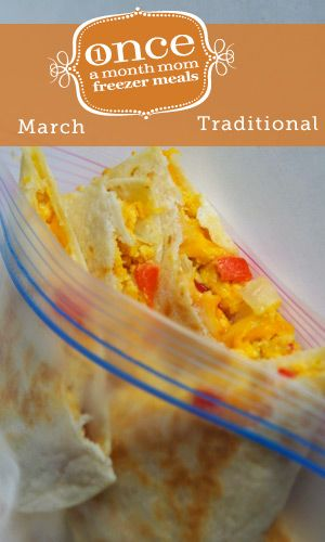 Traditional March 2013 Freezer Menu