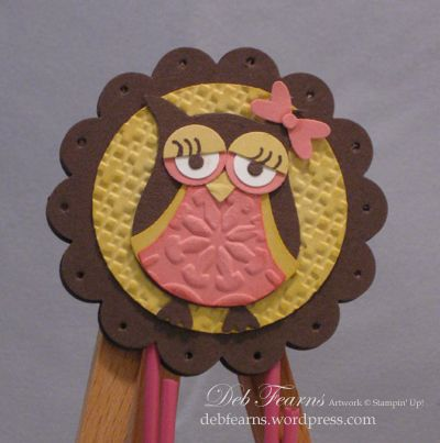 Owl Paper Clip front