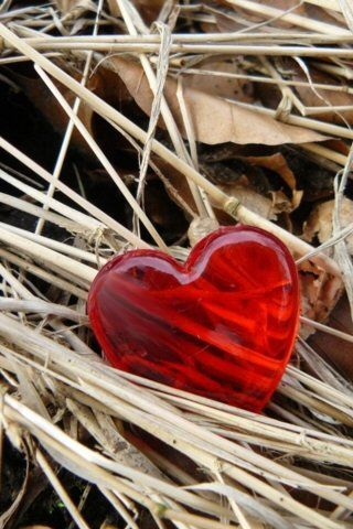 red heart..