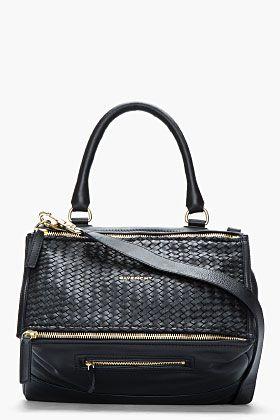 GIVENCHY Black leather Braided Pandora