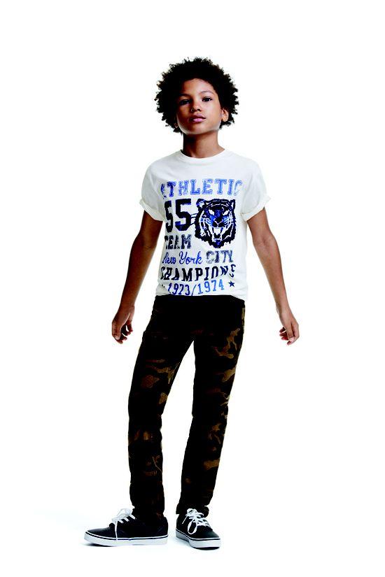 @Joe Fresh  Kids Camo Twill Pants and Graphic Tee