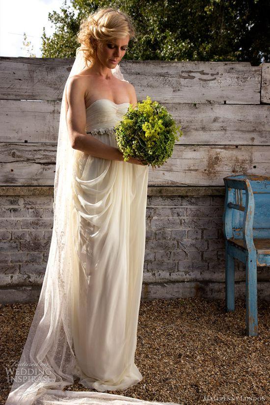 halfpenny london 2013 wedding dress draped