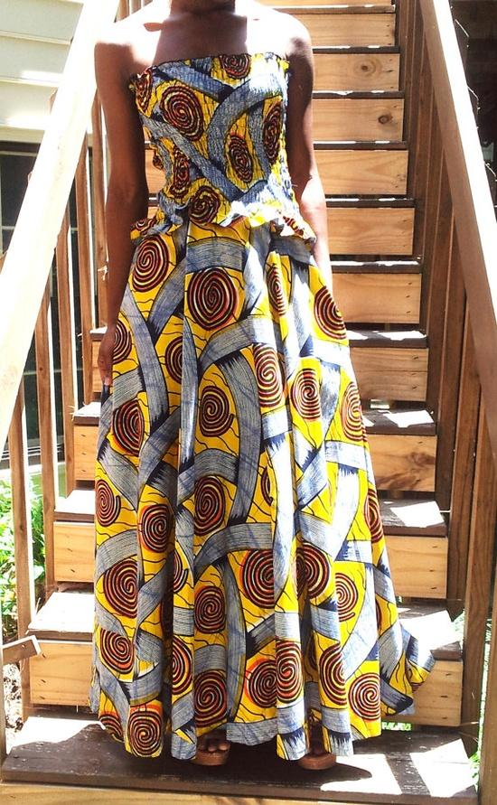 Ladies African Print Dress