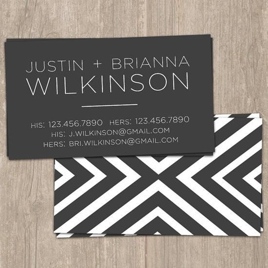 Bold Stripes  Digital Calling Cards by SaffronAvenue on Etsy, $10.00