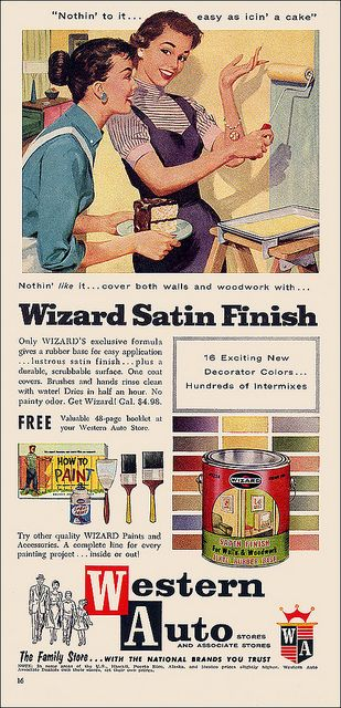 It's easy as icin' a cake! #vintage #1950s #paint #ads #homemakers