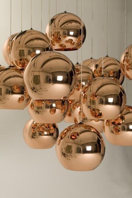adore { copper shade pendants by Tom Dixon }